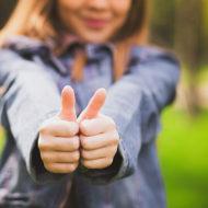social media advertising thumbs up